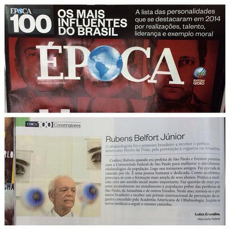 Materia da Revista ÉPOCA sobre Rubens Belfort Júnior